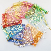 7x9 Wedding Favors and Gift Bag Organza Candy Valentines Day Drawstring Birthday Party Decoration Wrap 100pcs