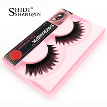 Disco Lashes Thick False Eyelashes New 1 Pair Soft Thick Fake Long Black Night Club Eye Lashes Makeup Cils Tools Party Eyelashes