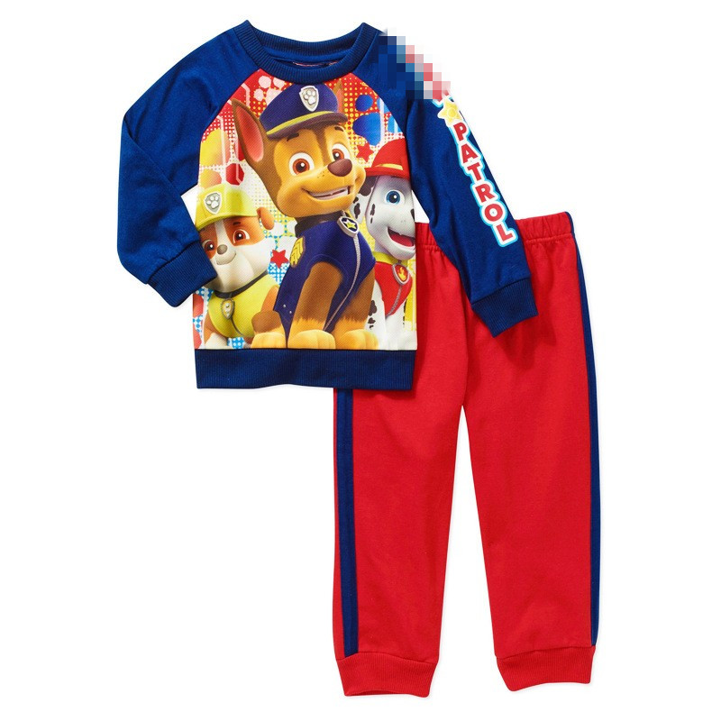 Foreign Trade Children Season PAWESS Dogs Boys Long Sleeve 2PCS Patrol Kids Clothes Cartoon Suits Kids Baby 2-7T Patro Sets<br><br>Aliexpress