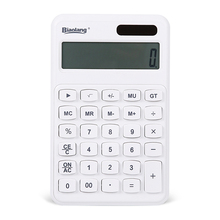 2016 White Desktop Electronic Calculator Multi Function Solar Calculator 12 Digits Display Dual Power Calculadora ADG98138(China)