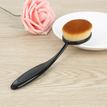 Black Color Single Makeup Brush Tooth Brush Shape Oval Cosmetic Brush for Foundation Powder Eyeshadow Contour Lip Make Up
