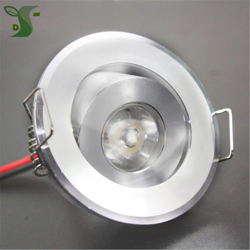 10pcs 110V 220V LED Mini ceiling LED spot light lamp dimmable 1W 3W embed mini LED downlight white,black,silver Including drive(China)