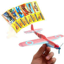 Free ship lot of 50pc polystyrene world war 2 flying glider planes kids party toys games favors bag pinata stock fillers(China)