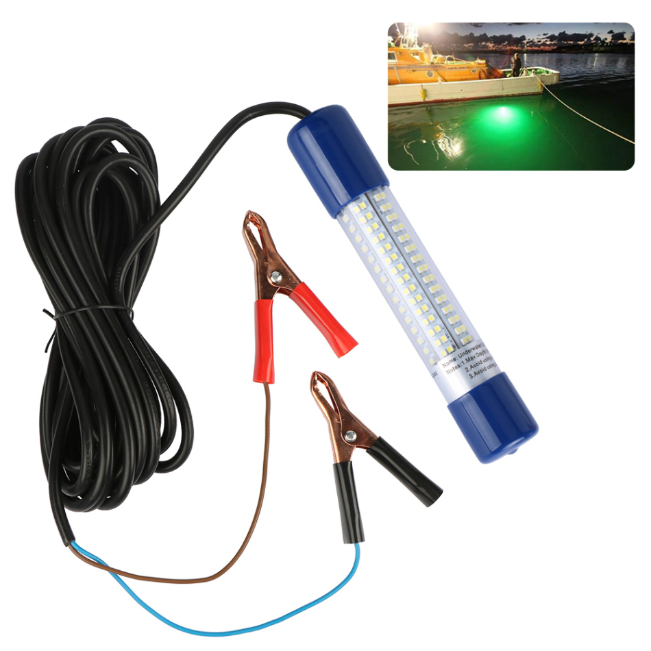 Goture LED Fishing Lure Light 12V 10.8W 180 LEDs 900 Lumens Underwater with 5M Cord White/Green/Blue LED Night Light for Fishing<br><br>Aliexpress