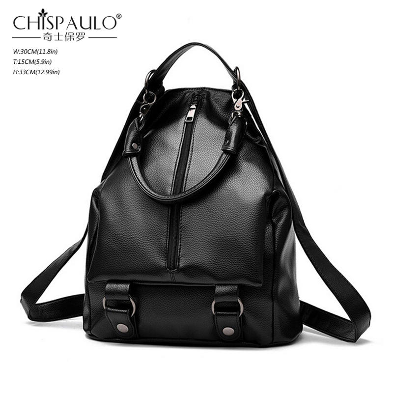 Women Backpacks For Teenage Girls Fashion Rugzak Embossing PU Leather Black Laptop Backpack Casual Travel School Bags Bagpack<br><br>Aliexpress