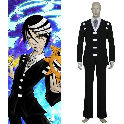 Anime Soul Eater Cosplay clothing- Soul Eater Cosplay Death the Kid Men's Party Costume for Halloween Freeshipping