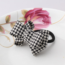 MISM Hair Accessories 1 PC Women Flower Bow Elastic Hair Band Rope Scrunchie Ponytail Holder Plaid Big Bowknot Tie Hair Accessoy