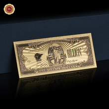 Colorful America .999 Gold Paper Money Replica US 1 Billion Dollar Gold Foil Banknote Bill Currency Home Decor(China)