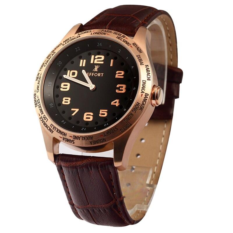 Men Bussiness Quartz Causal Military EFFORT Big Dial Wristwatches Luxury Brand relogio masculino Rose Gold clock Time Zone Watch<br><br>Aliexpress