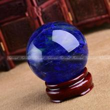 AAAA++1PC 50mm fusion quartz Blue crystal Magic Crystal Healing Ball Sphere + Stand(China)