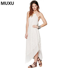 Buy MUXU summer women sexy lace dress white casual women clothing fashionable dresses vestidos backless robe sexy clothes elegant for $48.42 in AliExpress store