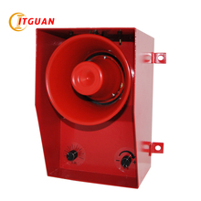 TGSG-06D DC/AC12V-380V Metal Buzzer 130dB Alarm for Passenger Car Ship Industrial Crane Warehouse Siren & Volume Adjustable