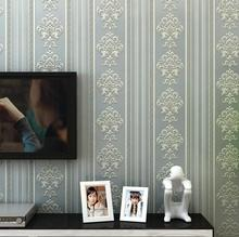 Luxury 3D Modern Embossed Flocking Stripe Wallpaper Roll /Decal Design Vertical Striped Living Room Bedroom Wall papers  Coveri