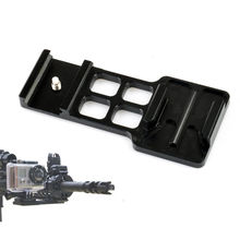 Black Camera Picatinny Weaver Gun Guide Rail Mount Side for Gopro hero 4 3 3 plus