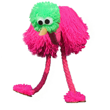 Marionette Doll Muppets Animal muppet hand puppets toys wool rope ostrich Birl Marionette doll for kids wooden puppet doll toy