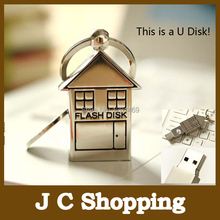 Garunk cute small house USB Flash Drive Pen Drive Pendrive 4G 8GB 16GB 32GB flash memory card stick storage u disk Free Shipping