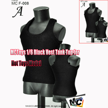 "Magic Cube Toys Fashion Male Vest Type A Black 1/6 Scale MC F-008 Fit 12"" Action Figure Muscle Body Clothes Annex(China)"