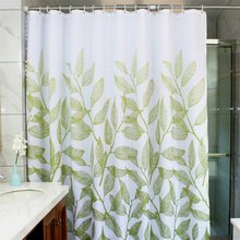 Leaves Fabric Shower Curtain,Waterproof Polyester Bathroom Curtain,Decorative Shower Curtain liner With 12 Hooks(China)