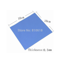 New 100mm*100mm*0.5mm GPU CPU Heatsink Cooling Conductive Silicone Pad  Thermal Pad  High Quality