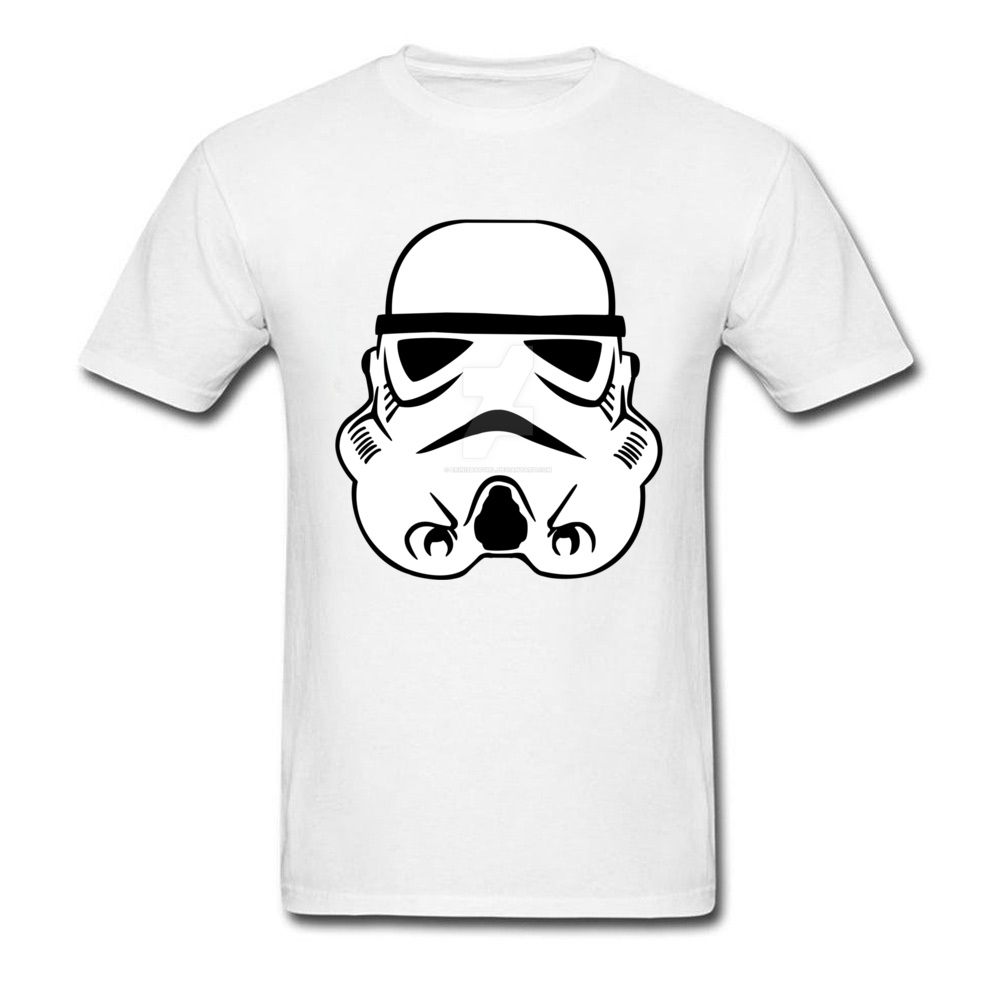 Newest Stormtrooper 10 Short Sleeve T-Shirt Summer/Autumn Round Neck Pure Cotton Tops & Tees for Men Tops Shirt Simple Style Stormtrooper 10 white