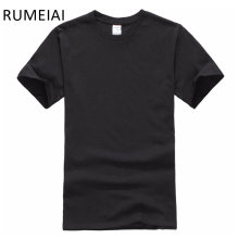 Free shipping New Solid color T Shirt Mens Black And White 100% cotton T-shirts Summer Skateboard Tee Boy Hip hop Tshirt Tops