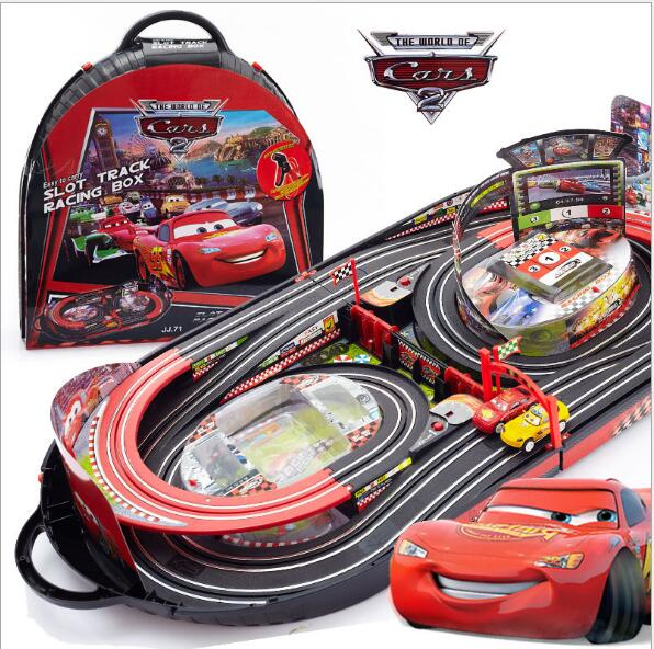 Cheap toys! Pixar Car 2 big toy car Remote control electric double track racing toy track car toy(China (Mainland))