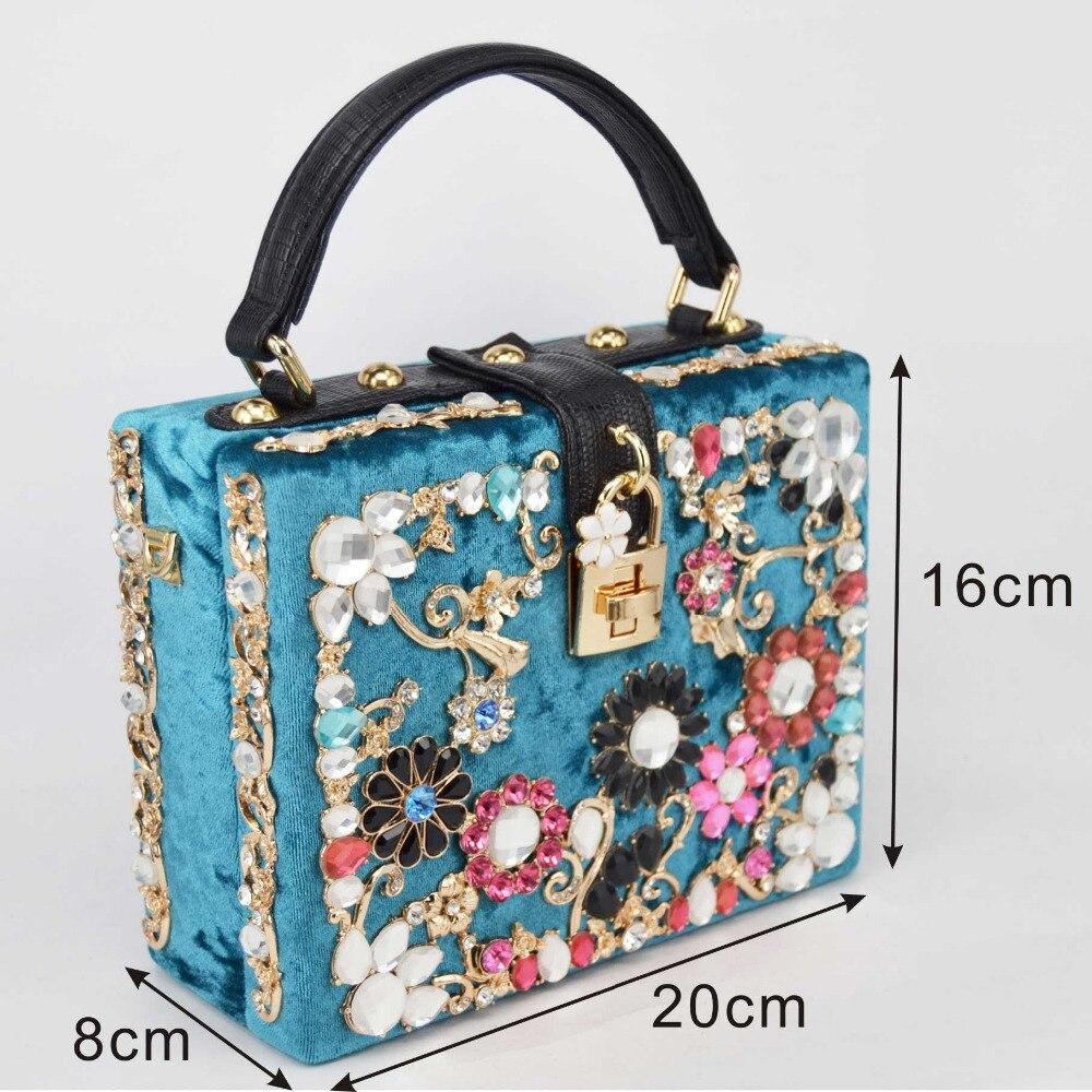 fashion design sunflower pattern diamond suede mini box handbag ladies evening bag shoulder bag messenger bag flap Metal lock<br><br>Aliexpress