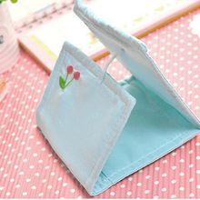 2pcs Lovely women girl Cotton Sanitary Towel Storage Bag 100% Brand New High Quality Napkin Bag Coin Purse Earphone Container(China)