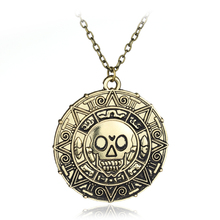 Hot Moive Pirates of the Caribbean Necklace Fashion Jewelry Vintage Charm Aztec Coin Skull Pendant Necklace(China)