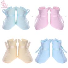 Buy Winter Newborn Shoes Unisex Baby Toddler Cotton Solid Thick Warm Bowknot Classic Floor Walker Socks Anti-slip Lovely Boots for $2.10 in AliExpress store