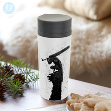 Personalized Plastic Insulated Japanese Pop Anime Berserk Guts Water Bottles 300ml Gift BPA Free Wide Mouth Drinkware(China)