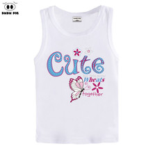 DMDM PIG Baby Girl Boy Clothes T-Shirts For Girls Summer T Shirts Teenagers Kids Sleeveless Tops Children Clothing T-Shirt 8 10(China)