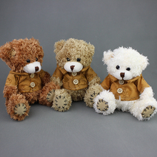 wholesale 15CM mini teddy bear plush toys Christmas Promotion baby Gifts 3pcs/lot 3 colors(China)