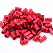 30pieces/pack universal aluminum hexgon style auto car tyre valve caps motorcycle bicycle wheel tire valve cap car styling(China)