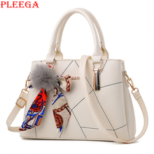 PLEEGA Sweet Lady Scarves Handbags Designers Fashion White Shoulder Bag High Quality PU Leather Totes for Female Messenger Bags