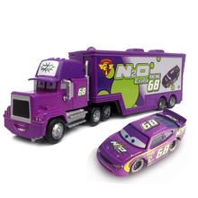 Brand New Metal No.68 Race Car Driver Container Truck Model Vehicle Toy for Kids Birthday Gift