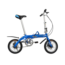 2017 hot sale 14 inches single speed folding bike Children bicycle Aluminum Alloy frame kid's bike double mini bicycle(China)
