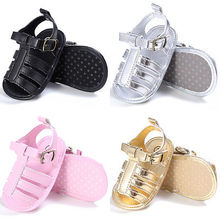 2017 New Infant Newborn Baby Boys Summer Sandals Toddler Girls Princess Soft Sole Shoes 3 Sizes 0-18M(China)