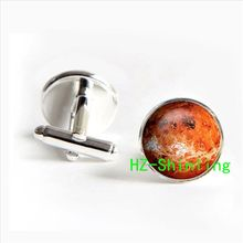 Planet  Venus jewelry cufflinks  solar system jewelry  neptune cufflinks Galaxy silver Glass photo Cabochon cufflinks 2017