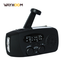 Hand Crank Radio AM/FM/NOAA Solar Radio Dynamo 3 LED Flashlight Emergency Phone Charger