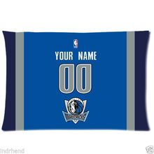 NEW Custom Dallas Mavericks BasketBall Pillow Case With Your Name and Numbers