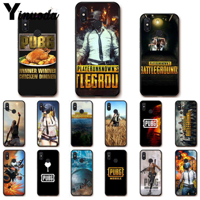 Игра Yinuoda Playerunknown's Battlegrounds PUBG PhoneCase для Xiaomi Redm4X 6A 5A 7A Redmi5 5Plus Note8 8Pro 7 mi A1 A2Lite|Бамперы|