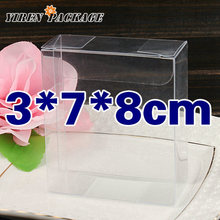 10 pcs/lot3*7*8cm clear box / pvc material / package cupcake marcaon / display box / plastic boxes