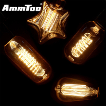 40W Vintage Antique Retro Style Led Filament Lamp Edison Bulb E27 Incandescent Light Bulb 220V G125 G95 G80 ST58T45 A19