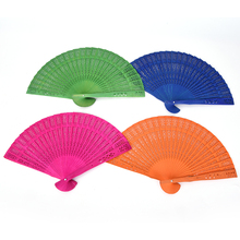 Top Quality Folding Chinese Hand Fan Chinese Hand Paper Fans Pocket Folding Bamboo Fan Wedding Party DIY Decoration Hand Fans