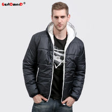 GustOmerD Brand Winter Coat Men Casual Hoodied Patchwork Cotton Padding Parka Men Clothing Winter Jacket Men(China)