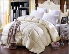 Winte warm white fake duck Down Comforter quilted Quilt soft twin double King Queen duvet 100% cotton shell