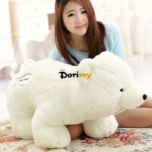 Dorimytrader Hot 28'' / 70cm Large Giant Stuffed Soft Plush Animal Polar Bear White Bear Toy Nice Gift Free Shipping DY60206(China)