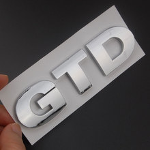 Car ABS GTD Emblem Badge Sticker Trunk Boot Body Car Rear Tailgate Sticker Fit For Golf Rear Boot MK4 MK5 MK6 Car Styling Decal(China)
