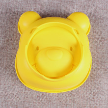 6 inch new arrival Yellow Vigny bear head silicone cake mold High quality brand Baking  products